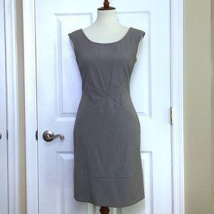 Andrew Marc Grey Sleeveless Sheath Dress Size 8